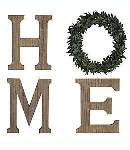 """Letrero de madera """"Home"""" Bee & Willow™ color natural"""
