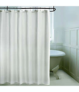 Cortina de baño de algodón Bee & Willow™ Home Brookton color blanco