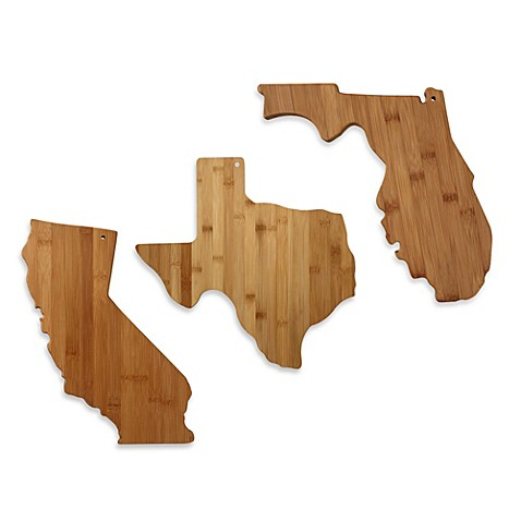 totally bamboo state shaped cutting/serving board  bed bath  beyond, Kitchen design