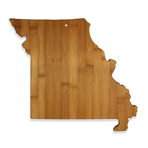 totally bamboo missouri state shaped cutting serving board bed bath beyond. Black Bedroom Furniture Sets. Home Design Ideas