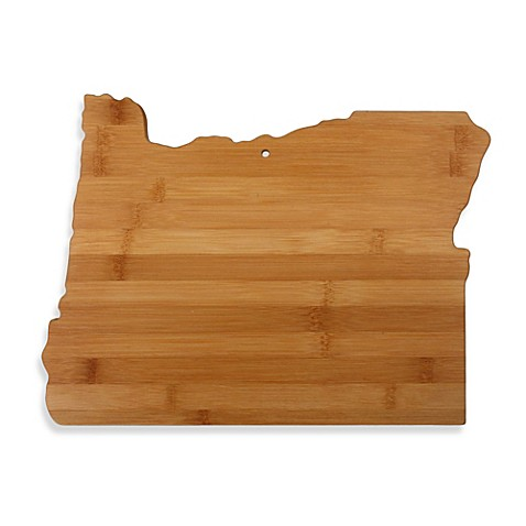 totally bamboo oregon state shaped cutting serving board bed bath beyond. Black Bedroom Furniture Sets. Home Design Ideas