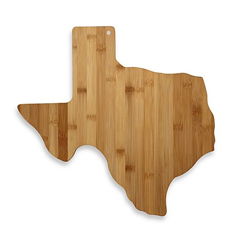 totally bamboo texas state shaped cutting/serving board  bed bath,
