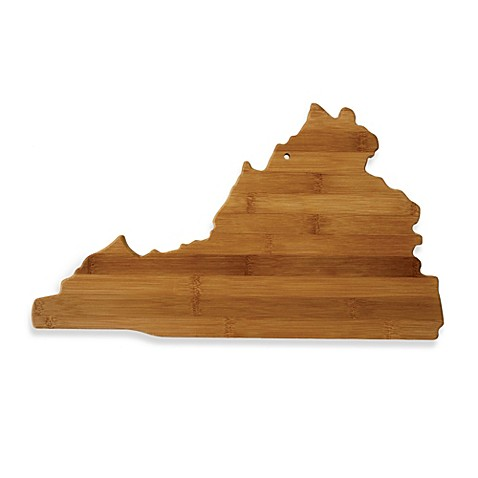 Totally Bamboo Virginia State Shaped Cutting/Serving Board
