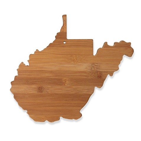 totally bamboo west virginia state shaped cutting serving board bed bath beyond. Black Bedroom Furniture Sets. Home Design Ideas