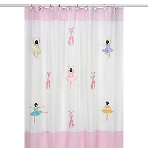 Sweet jojo designs ballerina collection shower curtain for Sweet jojo designs bathroom