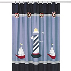 Sweet Jojo Designs Come Sail Away Collection Shower Curtain
