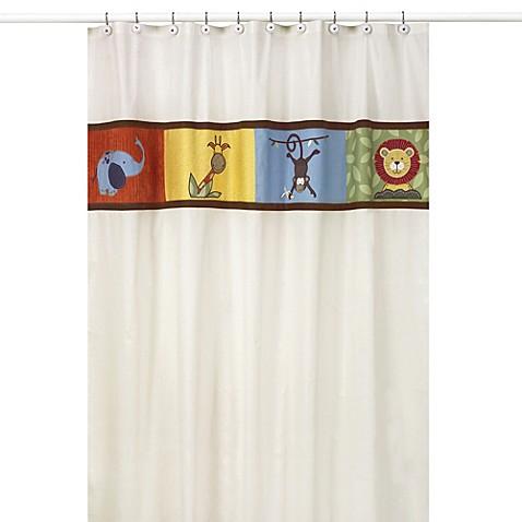 Sweet jojo designs jungle time shower curtain bed bath for Sweet jojo designs bathroom