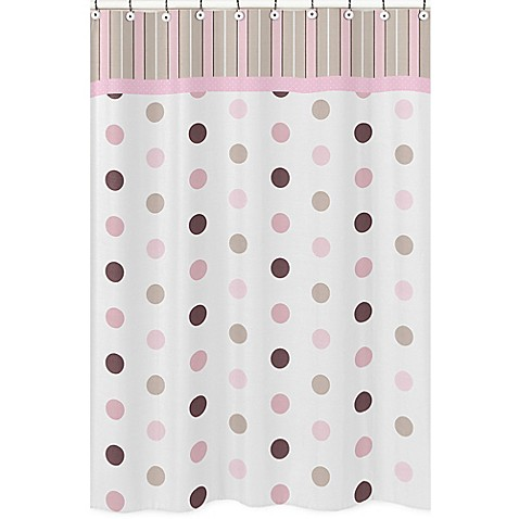 Kids bath decor sweet jojo designs mod dots shower for Sweet jojo designs bathroom