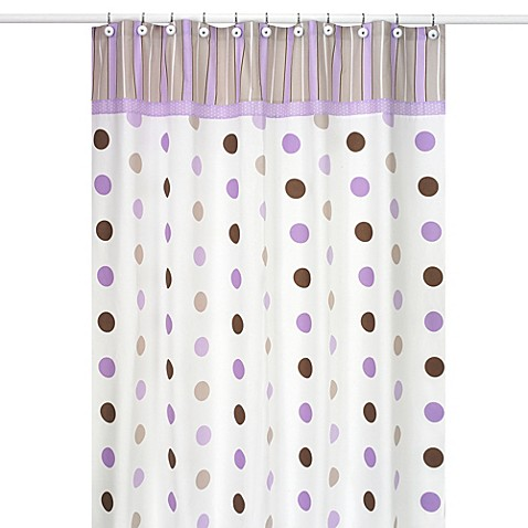 Sweet jojo designs mod dots shower curtain in purple bed for Sweet jojo designs bathroom
