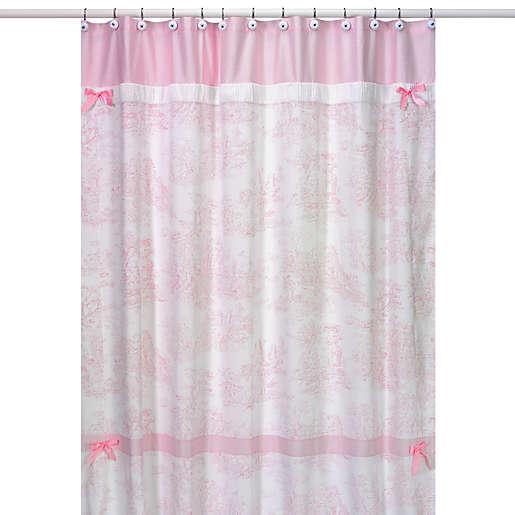 Sweet Jojo Designs Toile Shower Curtain In Pink Buybuy Baby