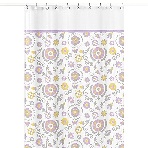 Buy sweet jojo designs suzanna shower curtain from bed for Sweet jojo designs bathroom