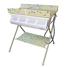 image of Baby Diego Standard Bath Tub  & Changer Combo in Beige