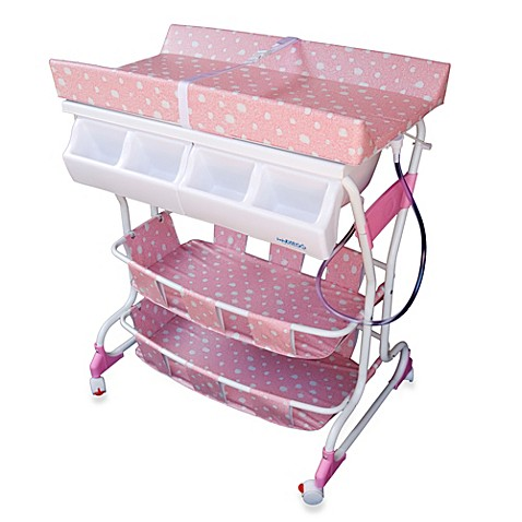 baby diego deluxe bath tub changer combo in pink bed bath beyond. Black Bedroom Furniture Sets. Home Design Ideas