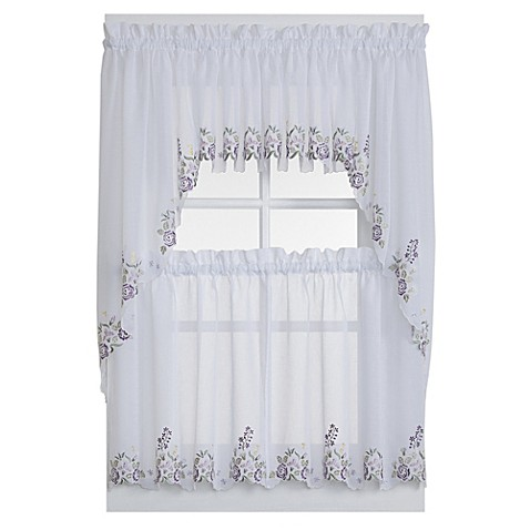 Buy isabella window curtain swag valance in white lilac - Swag valances for bathroom windows ...