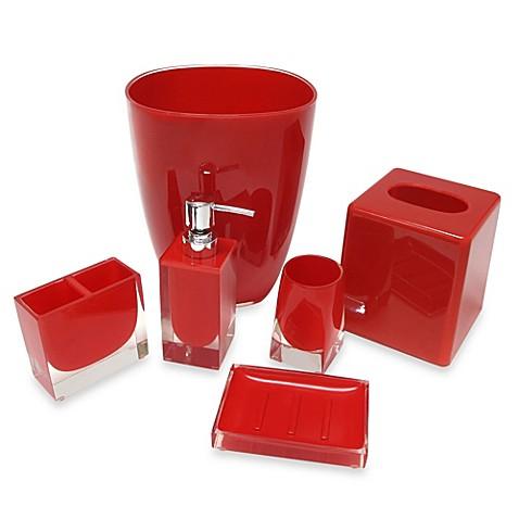 Memphis wastebasket in red bed bath beyond - Rd wastebasket ...
