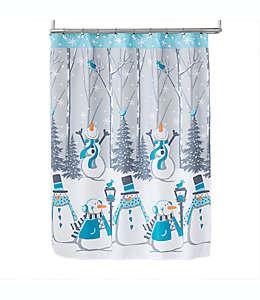 Set de cortina de baño y ganchos Snow Buddies en turquesa