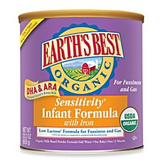 image of Earth's Best® Organic Sensitivity® Infant Formula With DHA & ARA and Iron (23 Ounces)