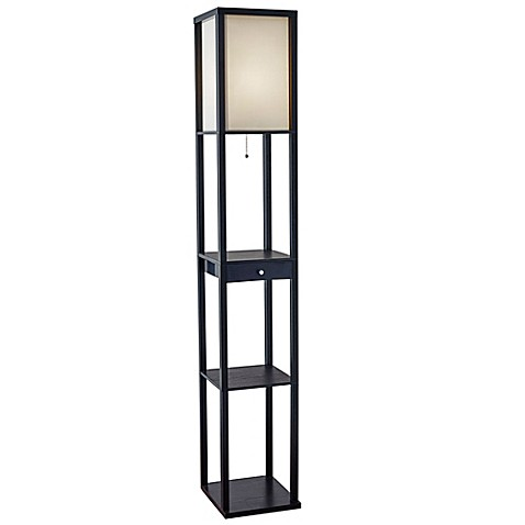 Etagere Floor Lamp With Drawer