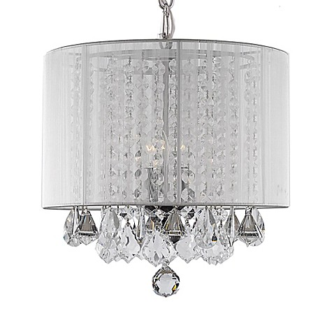 Gallery 3 light crystal chandelier with shade bed bath beyond gallery 3 light crystal chandelier with shade aloadofball Gallery