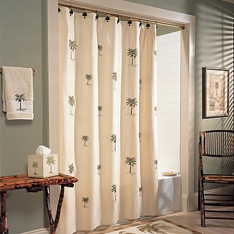 Croscill Port Of Call Fabric Shower Curtain Bed Bath Beyond