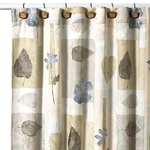 Croscillu00ae Spa Leaf 70Inch x 75Inch Fabric Shower Curtain  Bed Bath u0026 Beyond