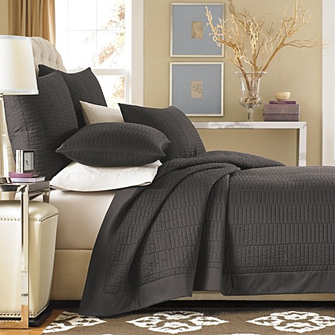 Real Simple 174 Dune Pillow Shams In Charcoal Bed Bath Amp Beyond