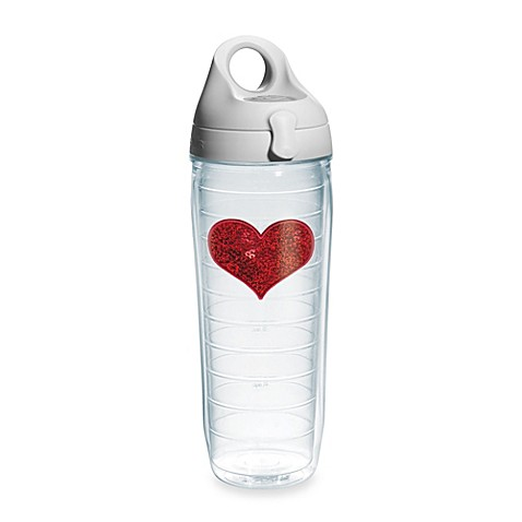 Tervis® Sequin Heart 24-Ounce Water Bottle in Red - Bed ...