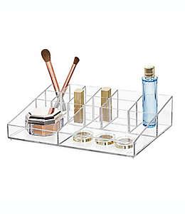 Organizador grande iDesign™ para cosméticos con divisiones