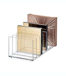 Organizador de plástico iDesign® para paletas de maquillaje
