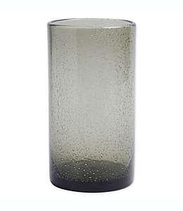 Vaso de vidrio Bee & Willow Home con diseño de burbujas en grafito