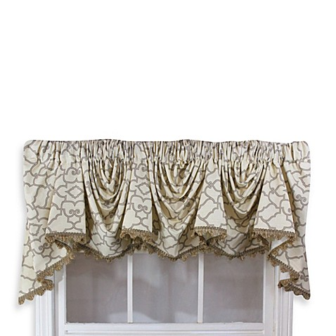 Garden gate 3 scoop victory window curtain swag valance - Swag valances for bathroom windows ...