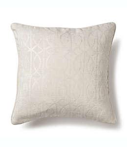 Cojín decorativo cuadrado Wamsutta® con patrón enrejado en blanco coco
