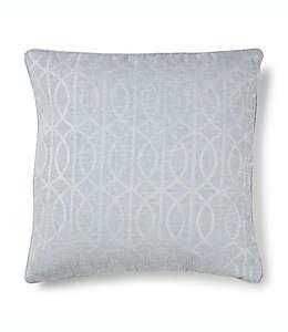 Cojín decorativo cuadrado Wamsutta® con patrón enrejado en azul perla