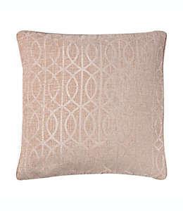 Cojín decorativo de poliéster Wamsutta® con patrón enrejado color rosa cuarzo