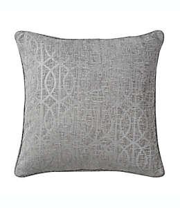 Cojín decorativo cuadrado Wamsutta® con patrón enrejado en gris