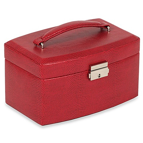 Wolf Designs 174 South Molton Medium Jewelry Box In Red Bed