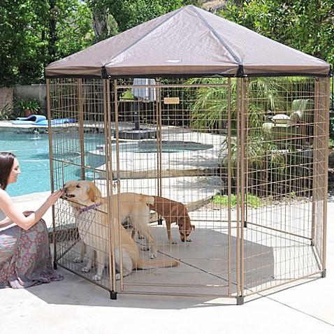 Advantek 7 5 Foot Quot Pavilion Quot Pet Gazebo Bed Bath Amp Beyond