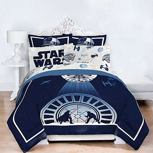 Star Wars Twin Full Comforter Set, Queen Bedding On Full Size Bed