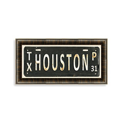 Houston License Plate Wall Art Bed Bath Amp Beyond