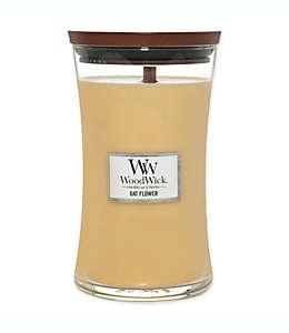 Vela grande en vaso WoodWick® aroma flor de avena