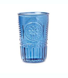 Vaso de vidrio Bee & Willow Home grabado color azul índigo