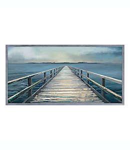 Cuadro decorativo de madera con paisaje del mar