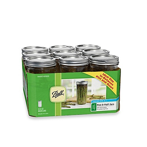 Ball 174 Wide Mouth 9 Pack 1 5 Pint Glass Canning Jars Bed