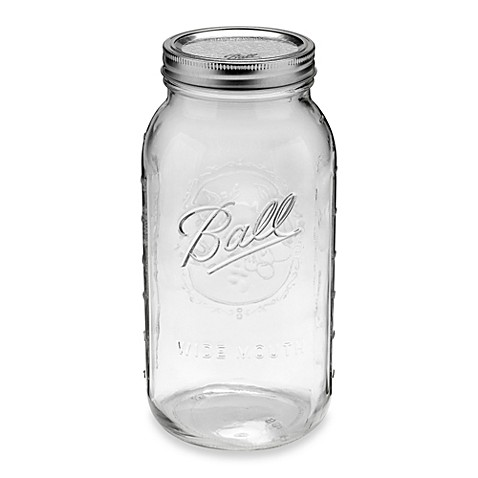 Ball® Wide Mouth 6-Pack 0.5-Gallon Glass Canning Jars