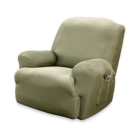 Sure Fit 174 Stretch Stripe Recliner Slipcover Bed Bath