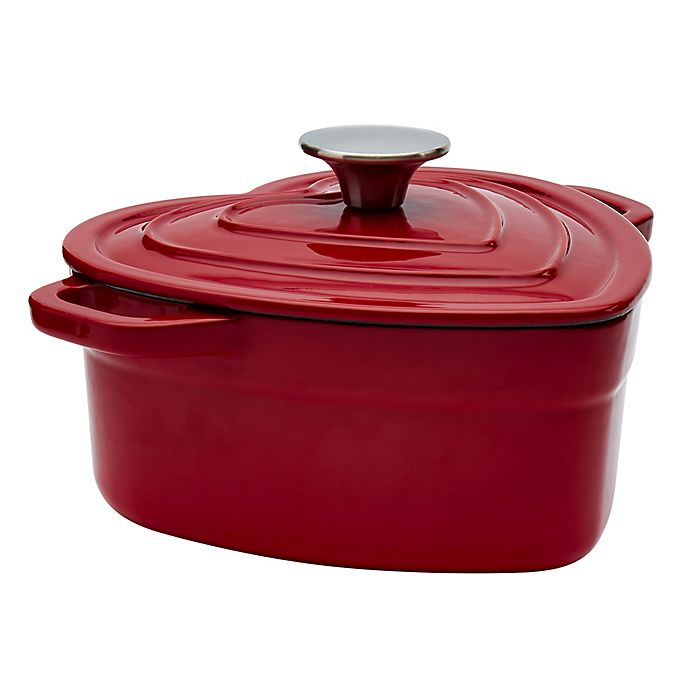 Artisanal Kitchen Supply 2 Qt Enameled Cast Iron Heart Dutch Oven In Red Bed Bath Beyond