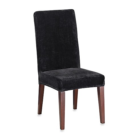 sure fit stretch plush short dining room chair cover