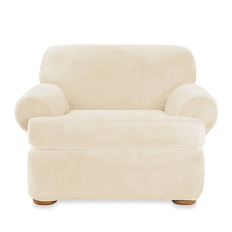Sure Fit 174 Stretch Plush 2 Piece T Cushion Chair Slipcover