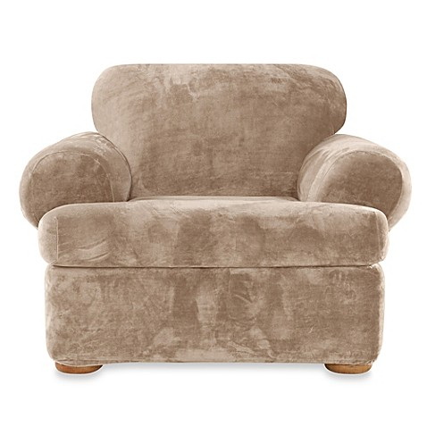 Buy Sure Fit Stretch Plush 2 Piece T Cushion Chair