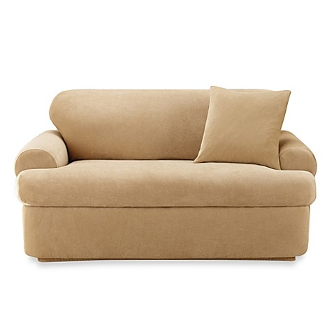 Sure Fit Stretch Pique 2 Piece T Cushion Sofa Slipcover